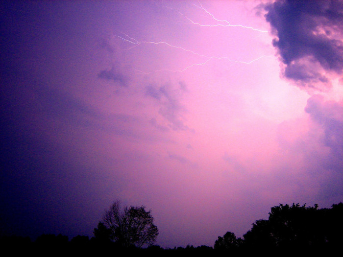 4. The clap of a summer thunder storm.