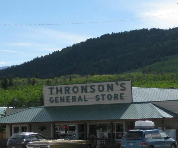 5.  Thronson's General Store, Babb