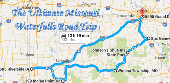 Here Is The Ultimate Missouri Waterfalls Road Trip - Missouri road map