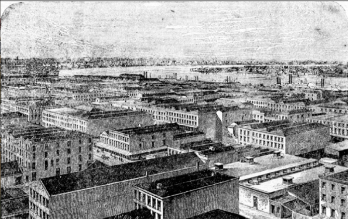 9) Birds-Eye view of New Orleans, 1873