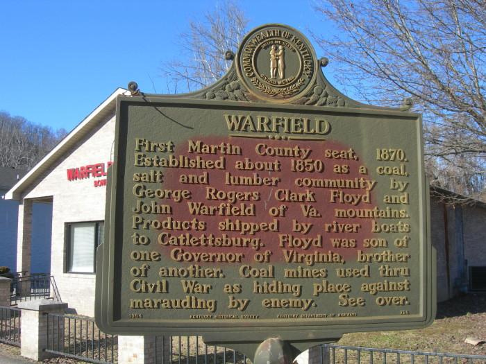 7. Warfield, population 264