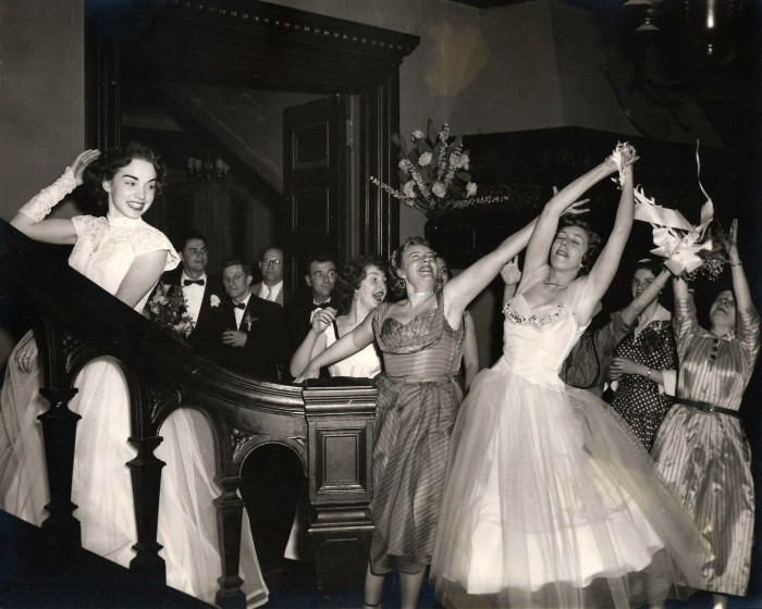 15. New Yorkers being the life of the party at a wedding in the 1950's.