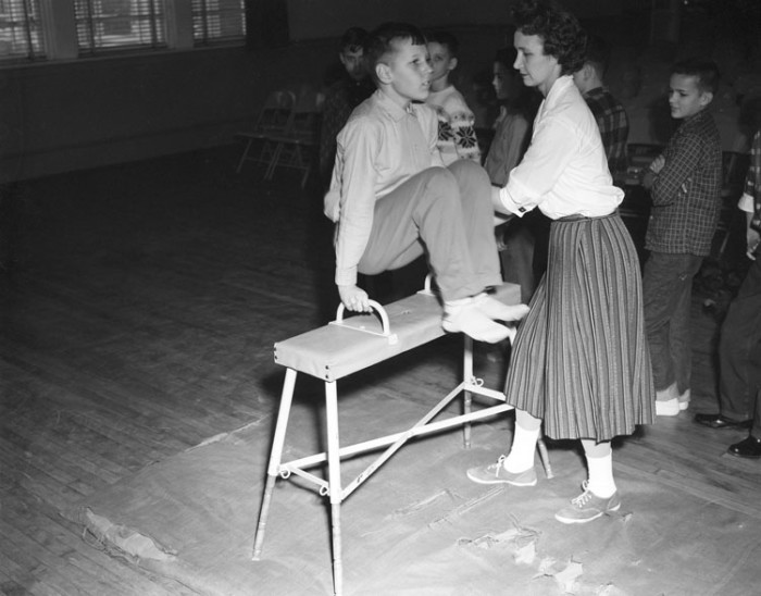2. Gym class at the William Fox School (1960)