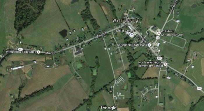 8. Willisburg, population 285