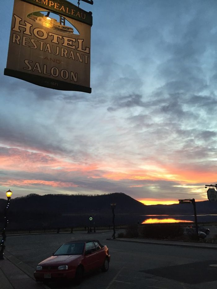8. Spend the night at a place with a great view: the Trempealeau Hotel.