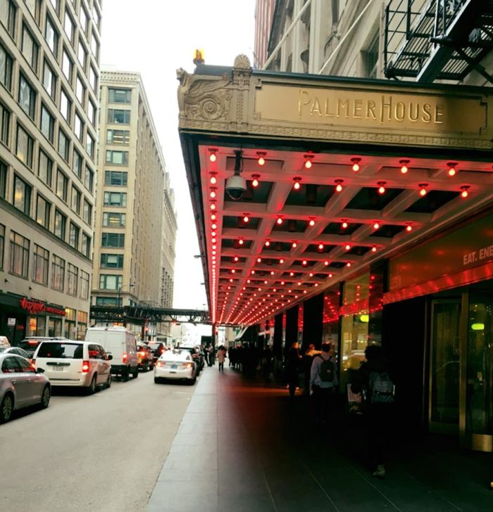 1. Check into the historic Palmer House Hotel.