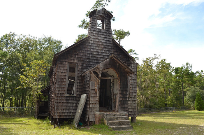 15. An abandoned church sits in a sad beautiful state of decay in Berkeley County.