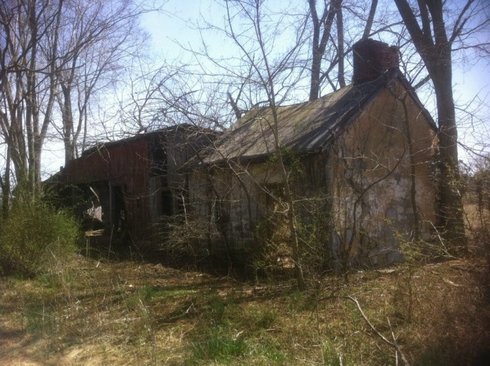 7. An abandoned home in a rural area