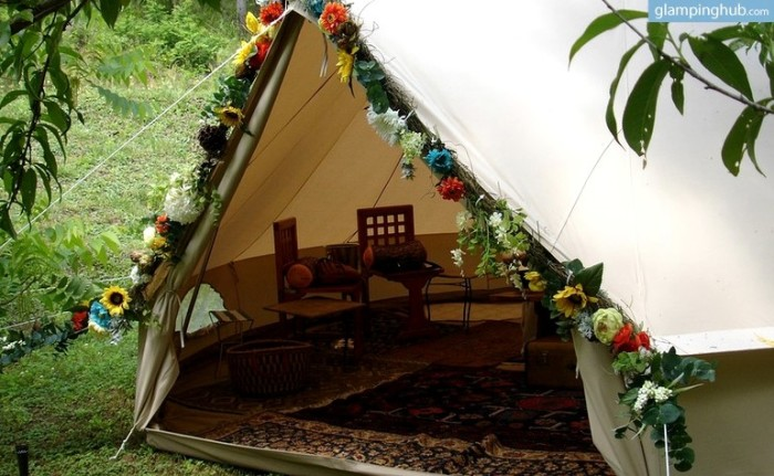 8. Glamping Tents On Luxury Camping Resort, Pisgah National Forest