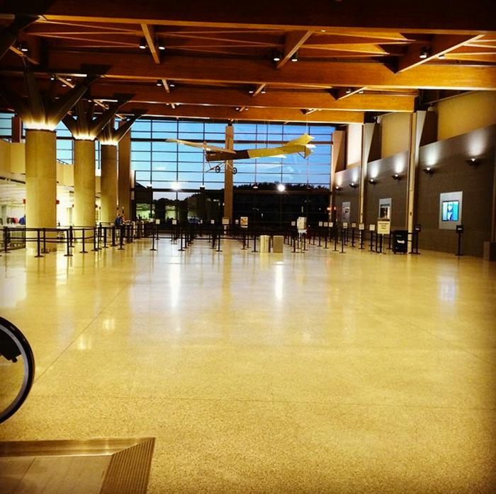 9. The holiday rush at Portland Jetport is no joke.