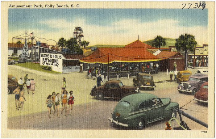 6. Spend the day at the amusement park on Folly Beach.