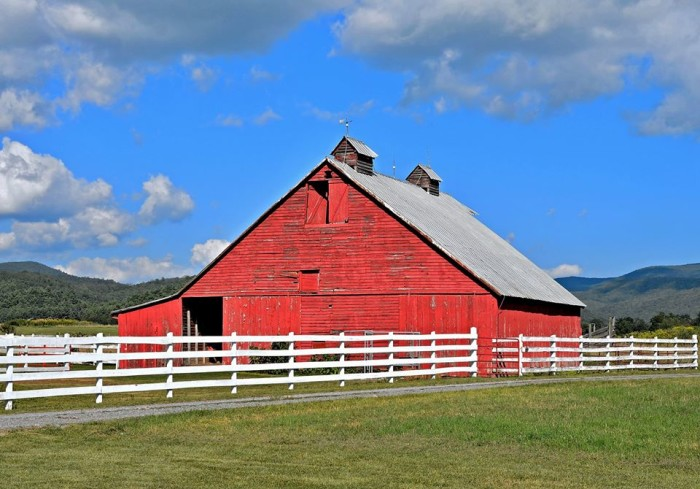 10. Old red barn