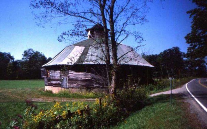 11. Unique old barn