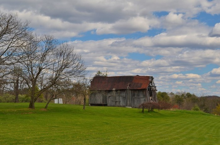 3. Old barn in a green pasture