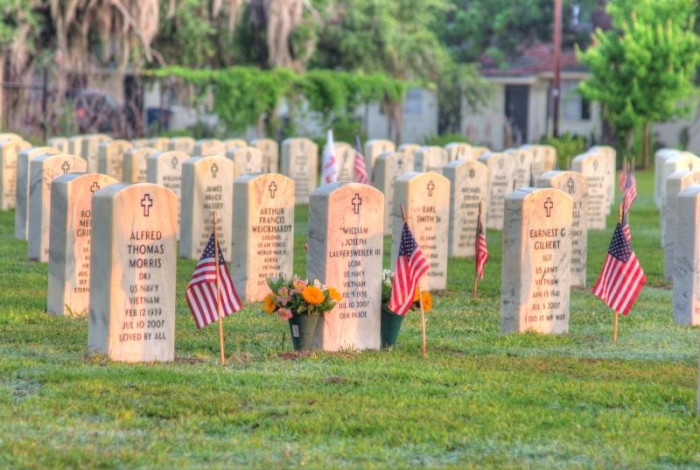 9. The Beaufort National Cemetery in Beaufort, SC.