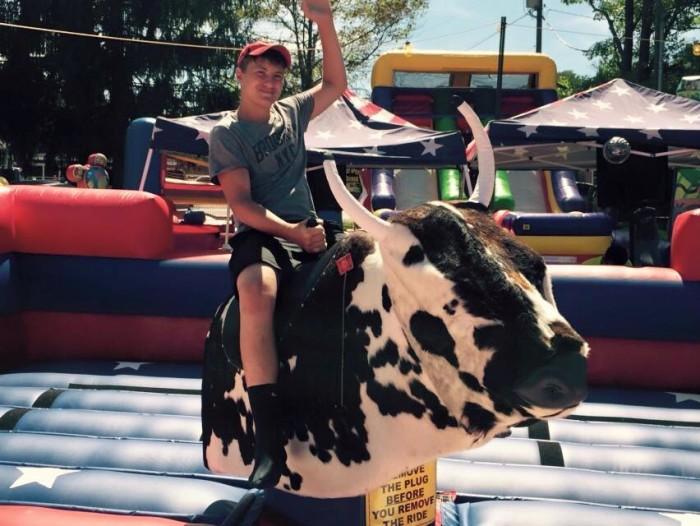 blackberry festival bull ride