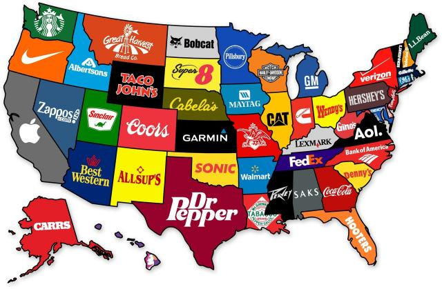 1. When it comes to the most famous brand from every state, Super 8 wins in South Dakota.