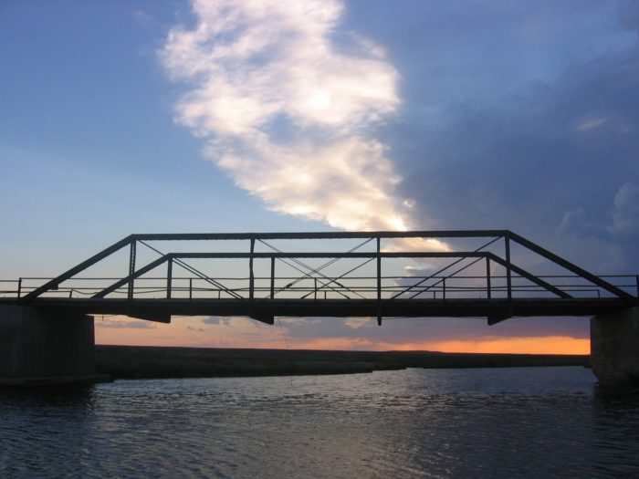 6. A bridge over the Poplar River in Scobey.