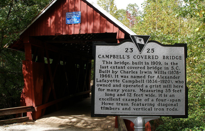 campbells covered bridge marker