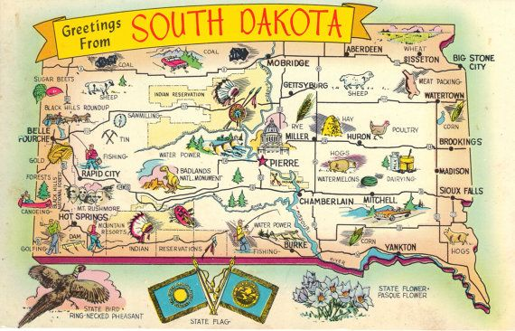 9 Maps Of South Dakota That Are Just Too Perfect – Tourist Attractions Map In South Dakota