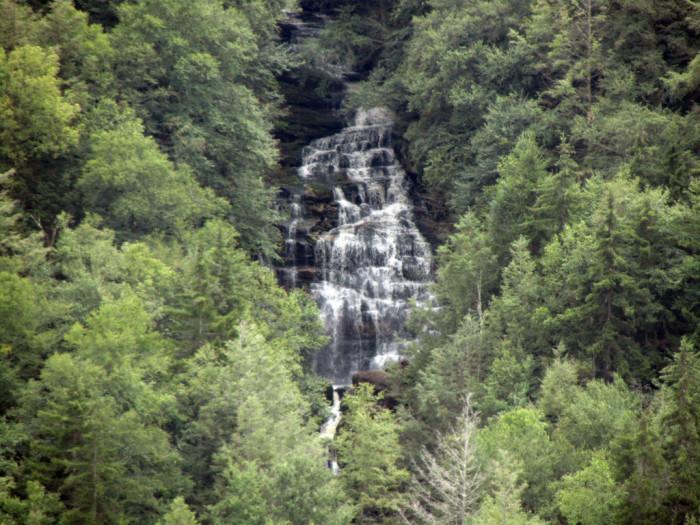 4. A cliffside waterfall