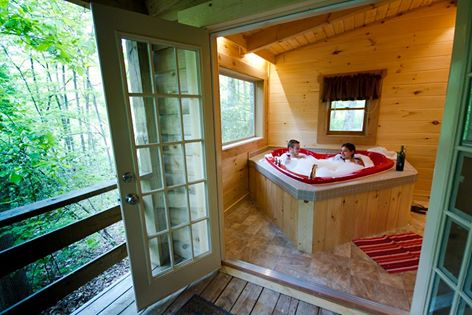 country road cabins hottub