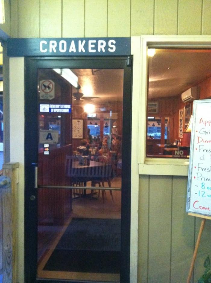 9. Croakers at Apache Pier in Myrtle Beach (9700 Kings Rd)