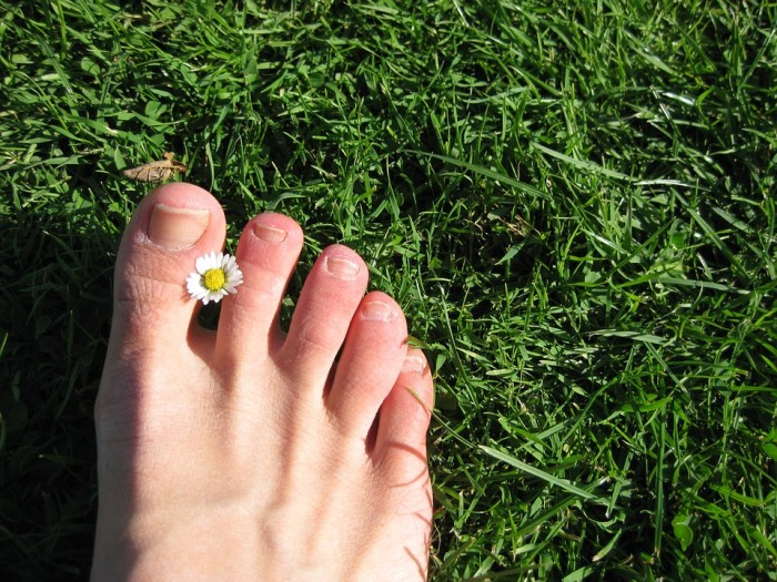10. Horrible shoeless stereotype aside, it really is nice to feel the grass between our toes. So yeah, we do go barefoot.