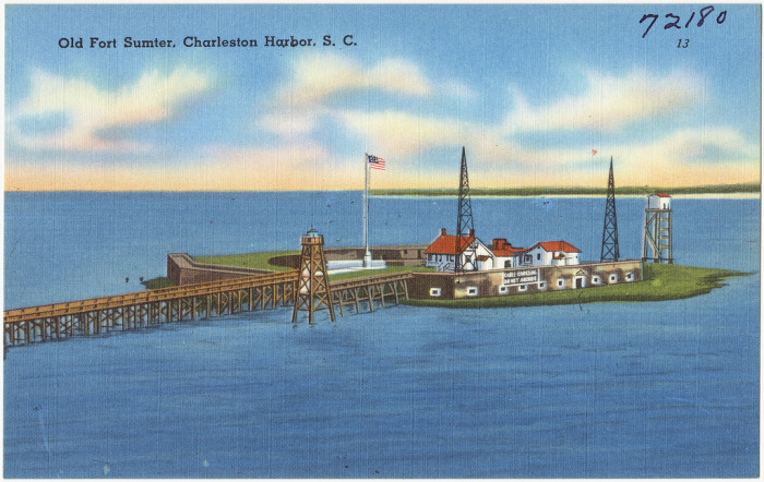 8. Take a close look. Don't you wish you could visit Fort Sumter when it looked like THIS?