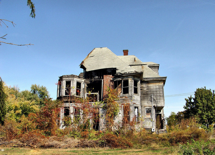 9. Abandoned home in Tyler County