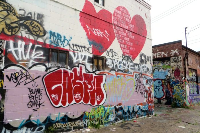 10. Baltimore's colorful graffiti alley is often visited by art lovers, photographers, and film makers.