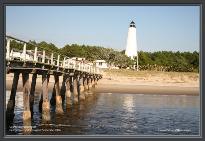 4. Georgetown Light - Located on North Island southeast of Georgetown. Coordinates: 33°13′21.47″N 79°11′06.18″W