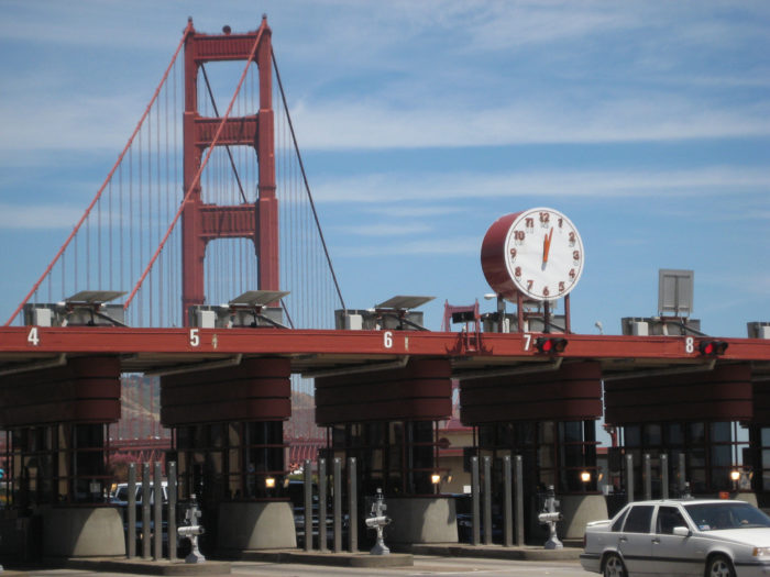 4. The Golden Gate toll.