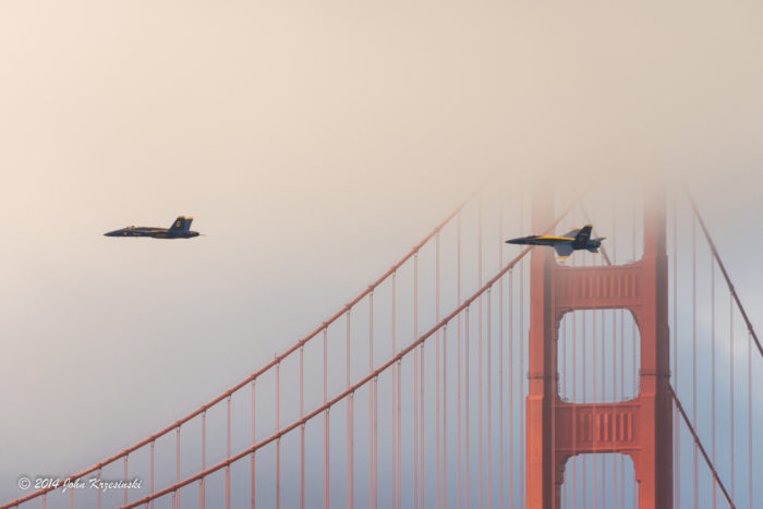 8. The Blue Angels flying into thick clouds that would scare any pilot.