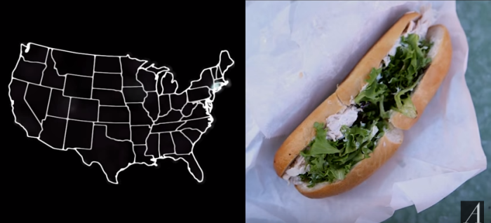 2) What do you call the long sandwich that contains cold cuts, lettuce, and so on?