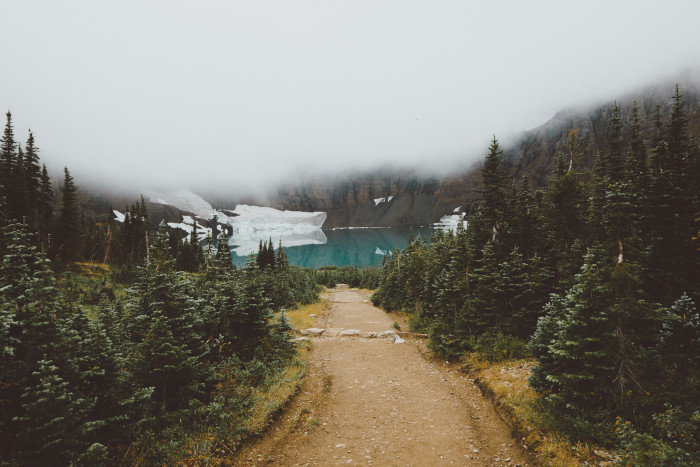 8. The beautiful hike down to Iceberg Lake at Glacier National Park.