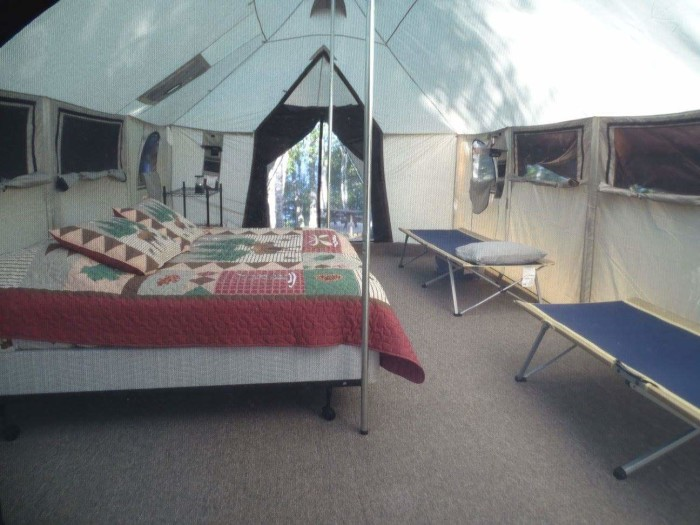 You can even sleep an entire family of 4 in one of these tents!