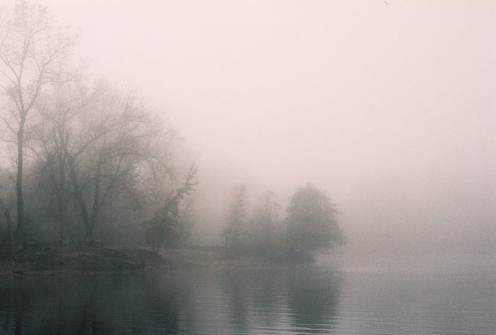 9. Mist on Lake Tahoe is terrifying.