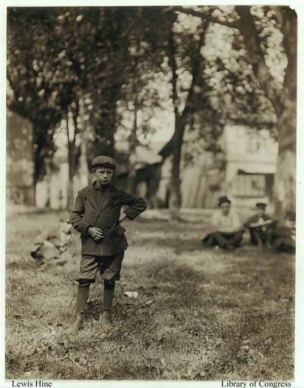 8.  Albert Lavallee in 1911 outside the American Woolen Mill.