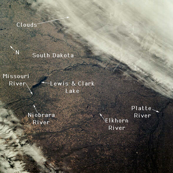 6. A scary-looking weather system is rolling in over Lewis and Clark Lake.