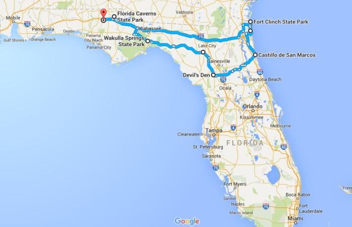 Williston Florida Map.The Ultimate North Florida Road Trip