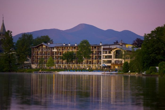 Next, check in at the stunning Golden Arrow Lakeside Resort.