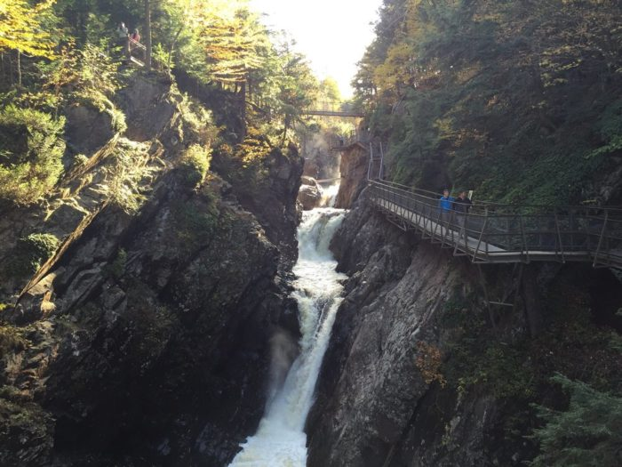 After getting settled you can go spend the afternoon exploring at High Falls Gorge.