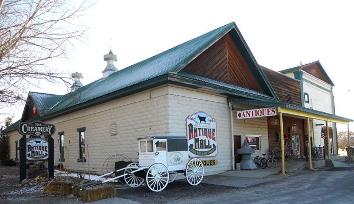 When you get into town, head to Creamery Antiques Mall on Eastside Highway. Not only is it a wonderful antique mall full of treasures, but it's also part of Stevensville's past.