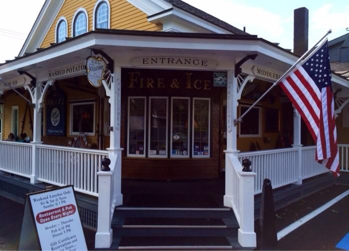 2. Fire & Ice Restaurant - 26 Seymour St., Middlebury
