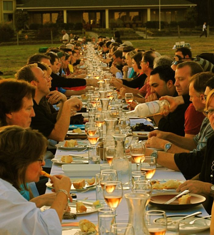 15. A Farm to Table outdoor dining experience is an unforgettable way to spend a summer night. It will set you back a few bucks, but the experience is out of this world. Pictured here is a farm-to-table dinner hosted by Oustanding in the Field.