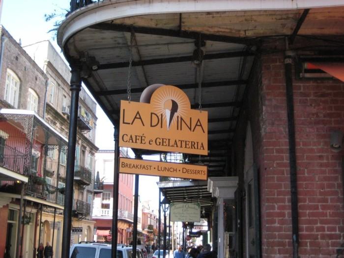 8) La Divina Café e Gelateria, 621 St. Peter St.