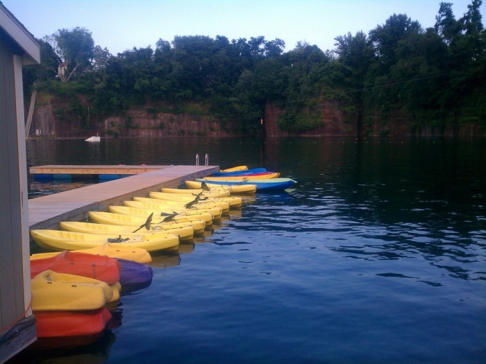 You can rent a kayak if you plan on exploring every inch of the water, or dive right in for a nice swim.