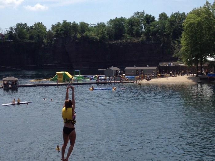 Plus you can zip-line, rock climb, snorkel, cliff jump, and scuba dive, too. The quarry's 100-foot freshwater depths are begging to be visited by you.