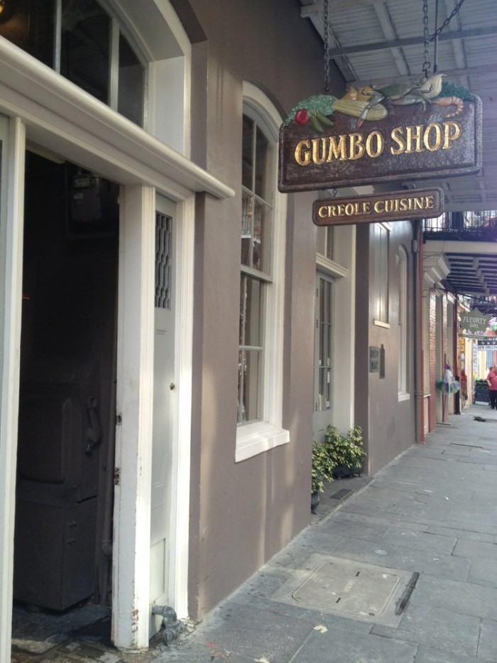 1) The Gumbo Shop, 630 St. Peter Street